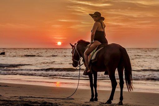 Sunset, Beach, Sun, Body Of Water, Sea, Sand, Ocean