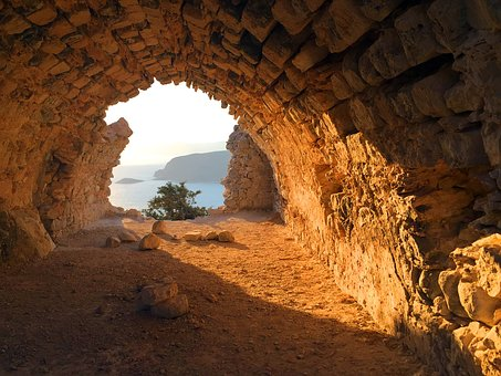 Rhodes, The Monolithos, Fortress, Sunset, Rhodes Island