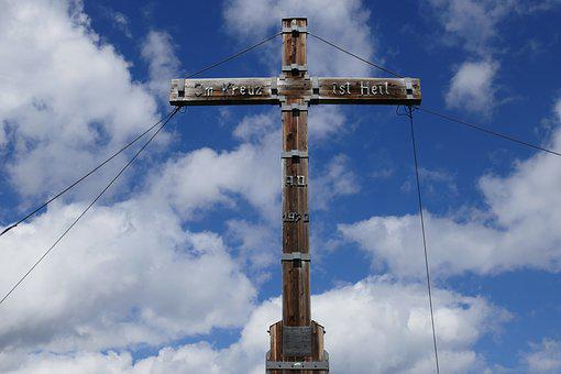 Sky, High, Travel, Cross, Summit Cross, Top, Nature