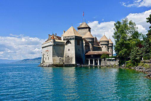 Castle, Chillon, Switzerland, Architecture, Travel