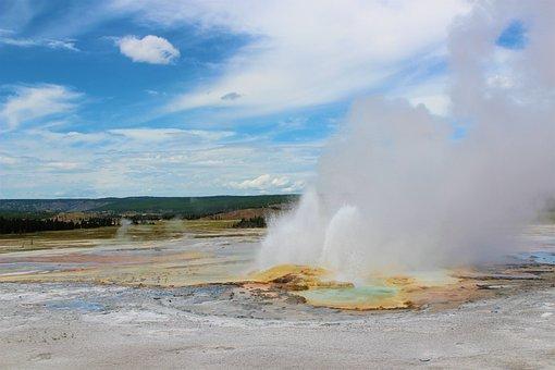 Steam, Nature, Travel, Geyser, Yellowstone