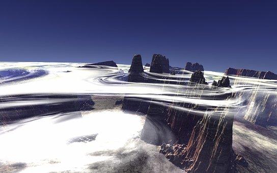 Flight, Above The Clouds, Cloudscape, Alien Planet