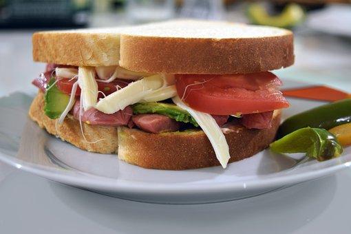 Bread, Sandwich, Food, Sausages, Toast, Breakfast