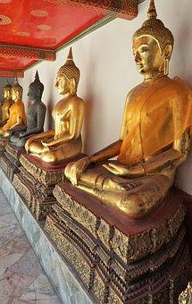 Buddha, Sculpture, Statue, Religion, Temple, Art