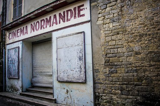 Architecture, Old, Road, Wall, Cinema