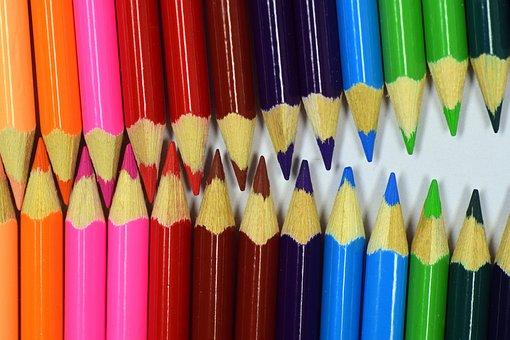 Colored Pencil, Color, Close, Rainbow, Pencil
