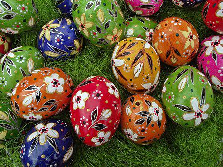 Easter, Eggs, Painted, Eating, Decoration, Handicraft