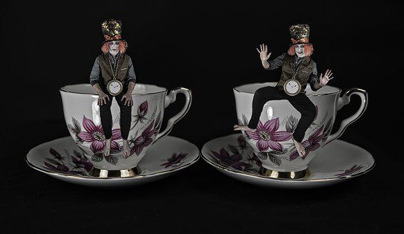 Luxury, Woman, Fashion, Elegant, Cup, Mad Hatter