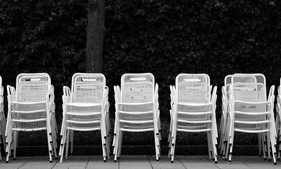 Chair Series, Metal Chairs, Monochrome, Black White