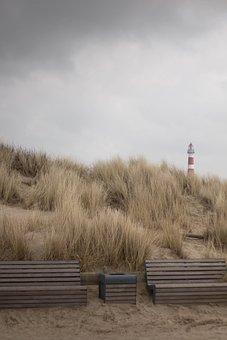 Nature, Landscape, Sea, Leuhtturm, Background