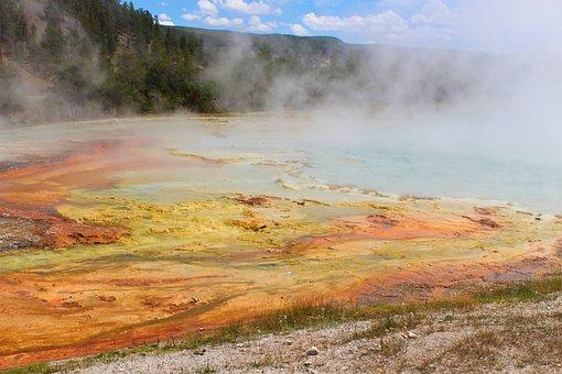 Steam, Nature, Geothermal Energy, Landscape