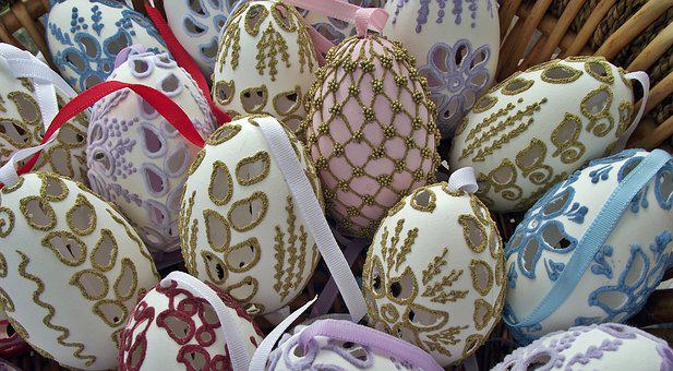 Easter, Craft, Ornaments, Openwork, Eggs