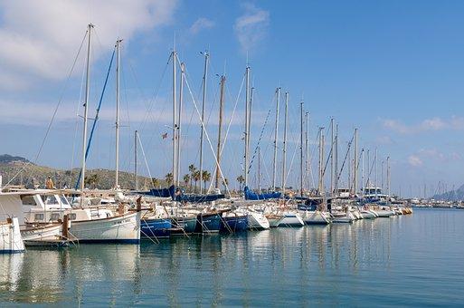 Mallorca, Port De Pollença, Port, Marina, Yacht, Sea