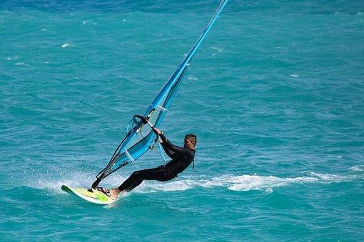Windsurfing, Surfer, Recreation, Leisure, Sea, Fun