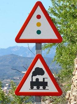 Level Crossing, Signal, Railway, Train, Road, Warning