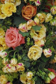 Rose, Bouquet, Flower, Floral, Wedding, Macro