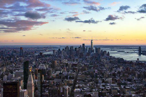 City, Cityscape, Panoramic, Skyline, Architecture