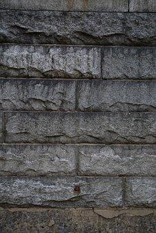 Stone, Rough, Wall, Pattern, Grey, Masonry, Building