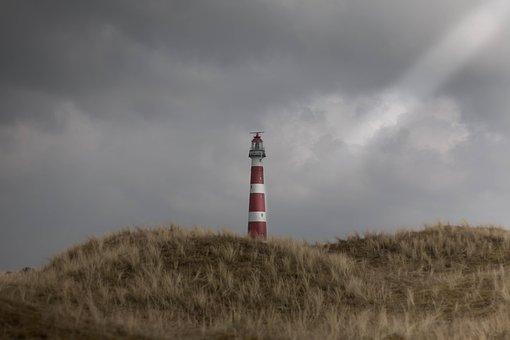 Lighthouse, Sky, Nature, Landscape, Sunset, Light