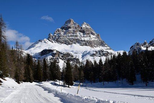 Three, Tops, Of, Lavaredo, Landscape, Alpine, Dolomites