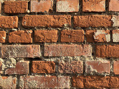 Brick, Cube, Wall, Stone, Dark, Brickwork, Old, Solid