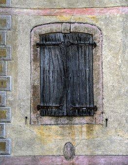 Window, Pane, Former, Facade, Wood, Old, Worn