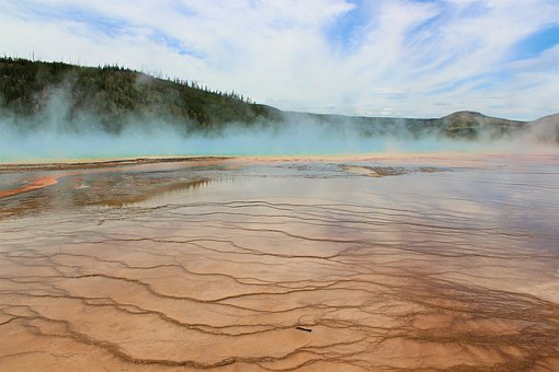 Steam, Geyser, Thermal Spring, Hot, Waters, Yellowstone