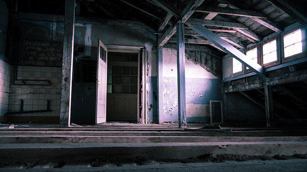 Lost Places, Attic, Old, Abandoned, Masonry, Wood
