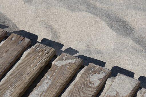 Sand, Beach, Board