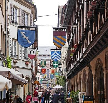 Strasbourg, Wine Alley, Center, Cathedral Square, Local