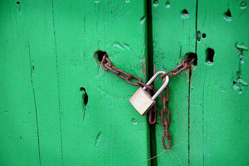 Castle, Padlock, Chain, Goal, Blocked, Secure, Close Up