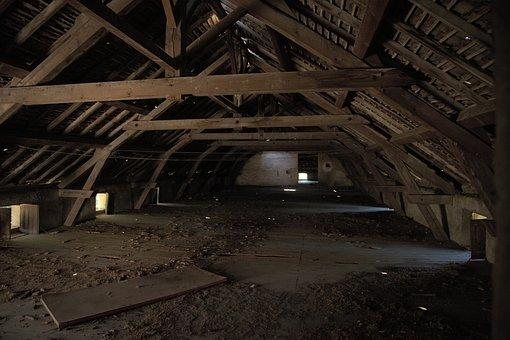 Attic, Empty, Wood, Abandoned, Old, Dark, Dirty, Dusty