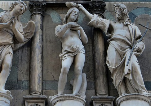 Italy, Florence, Cathedral, Duomo, Facade, Marble