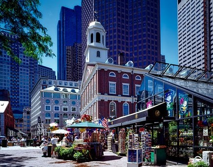 Boston, Massachusetts, Faneuil Hall, Landmark, Historic
