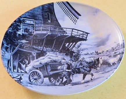 Delft, Hand Decorated Plate, Holland