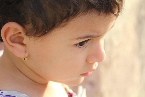 Girl, Portrait, Kid, Cute, Hair, Sunlight, Arab, Young