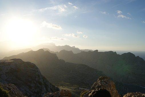 Mountains, Landscape, Mallorca, With Pm-221