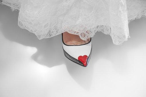 Shoes, Woman, Bride, Fine, Whites, Heels, Leg