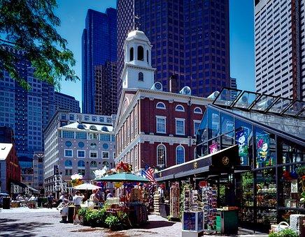 Boston, Massachusetts, Faneuil Hall, Landmark, Historic
