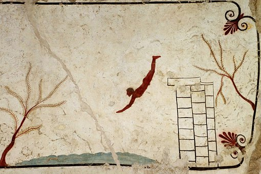 Paestum, Salerno, Italy, Tomb Of The Diver, Diver