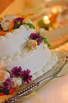 Cake, Flowers, Party, Food, Dessert, Celebration, White
