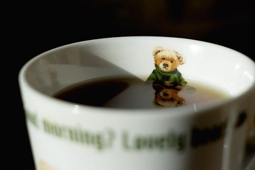 Coffee, Coffee Mug, Winnie, Bath, Reflect, Free, Cup