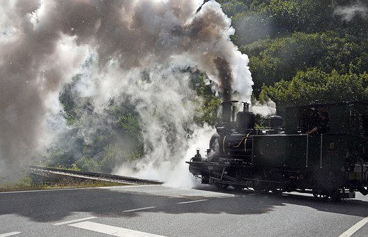 Steam Locomotive, Level Crossing, Road Crossing