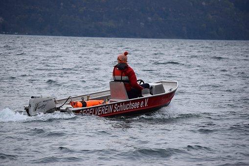 Lake, Como, Italy, Speedboat, Sailing School, Lake Como