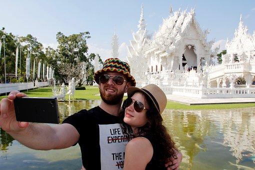 Selfie, Thailand, Tourism, Tourists, Wat Rong Khun
