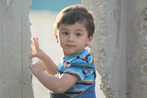 Girl, Starring, Portrait, Blue, Outdoor, Sunlight, Iraq
