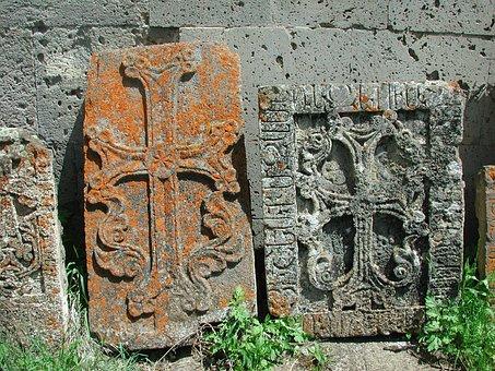 Stone Crosses, Rock Carving, Antique, Steinmetz