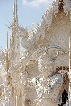Figure, Wat Rong Khun, Temple, Thailand, White Temple