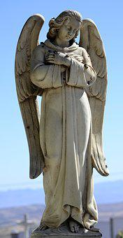 Cemetery, Angel, Sculpture, Tomb, Marble