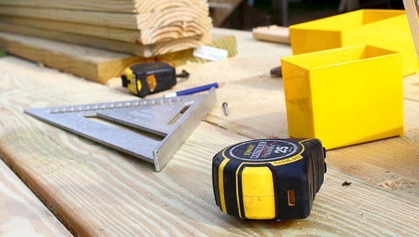 Tape Measure, Construction, Carpentry, Tool, Yellow